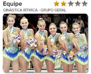 Peso do Ouro - equipe - Ginástica rítmica - Grupo geral 2 (Foto: GloboEsporte.com)