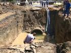 Cedae conclui trabalho em cratera aberta na Radial Oeste, no Rio