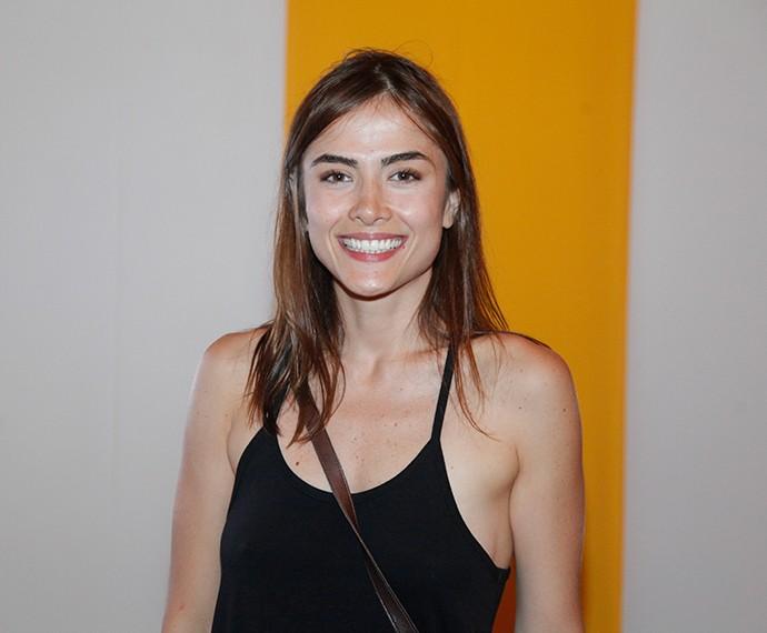 Maria Casadevall também apostou no preto para a noite (Foto: Artur Meninea/Gshow)