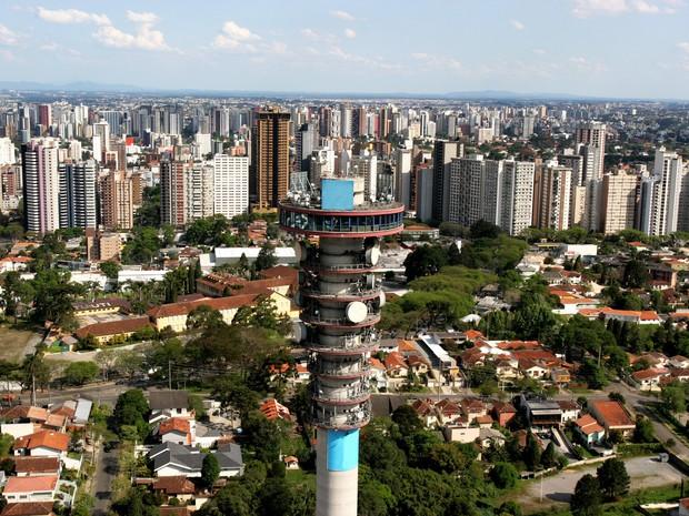 Ingresso da Torre Panorâmica em Curitiba passou de R$ 3,50 para R$ 5,00 (Foto: Divulgação/ Prefeitura de Curitiba)