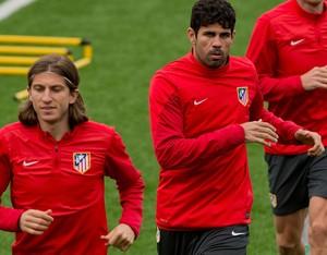 Filipe Luis e Diego Costa Atlético de madri (Foto: Agência Getty Images)