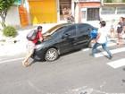 Estudante atropela manifestante em ato contra a PEC 55 em frente à UFRA