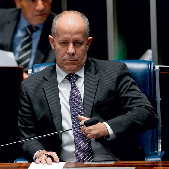 """Antônio D""""Ávila,ex-auditor do TCU em depoimento no Senado (Foto: Pedro Ladeira/Folhapress)"""