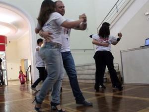 Dançarinos participam de convenção de dança no Enaf (Foto: Jéssica Balbino/ G1)