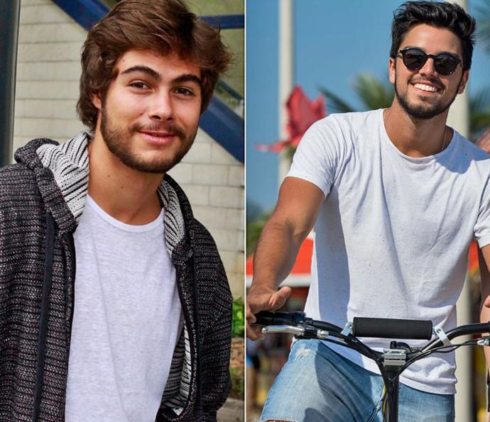 Rafa Vitti e Rodrigo Simas!! Aguenta coração! (Foto: Gshow e Estevam Avellar/TV Globo)