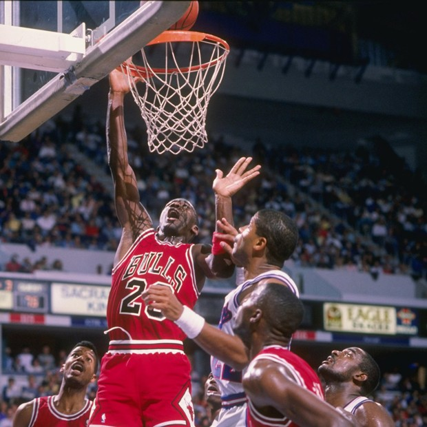 Michael Jordan no início de carreira (Foto: Getty Images)