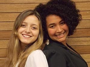 GUARÁ: Daniela Araújo é jornalista, tem 24 anos e gosta muito de escrever. Ela é parceira de Samanta Silva, que além de ser jornalista, é cantora (Foto: TV Globo/reprodução)