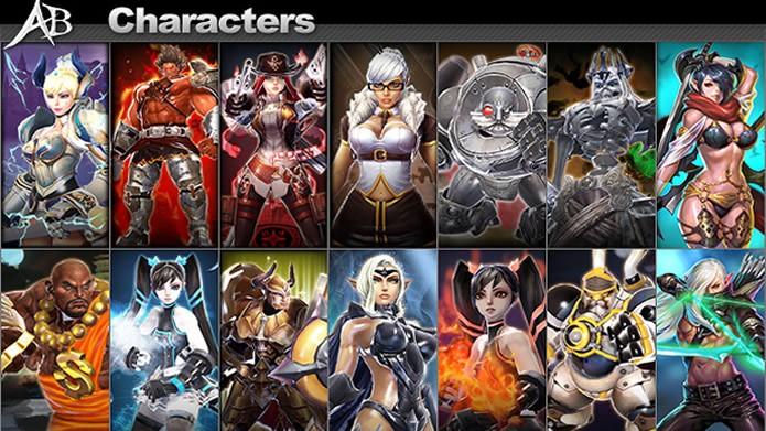 Em ArcheBlade você poderá entre 14 personagens com habilidades, estilos de luta e armas diferentes (Foto: Divulgação/CodeBrush Games)