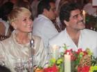 Com Junno, Xuxa vai a evento beneficente e cumprimenta ex-sogra