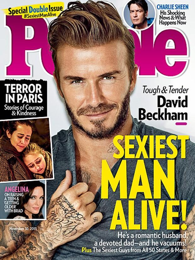 David Beckham foi eleito o homem mais sexy do mundo pela 'People' em 2015 (Foto: Reprodução)