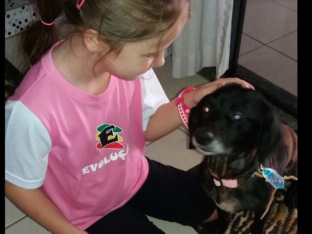 Após o reencontro, com a filha de Denise (Foto: Denise de Oliveira/Arquivo pessoal)