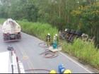MGC-265 continua interditada após acidente próximo a Mercês