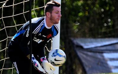 Paulo Victor Flamengo treino (Foto: Gilvan de Souza)