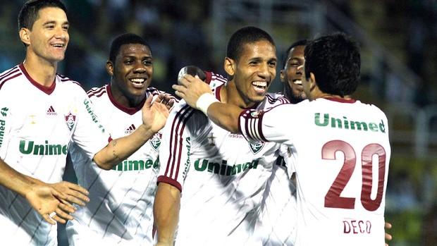 Samuel comemora gol do Fluminense contra o Volta Redonda (Foto: Nelson Perez / Fluminense. F.C.)