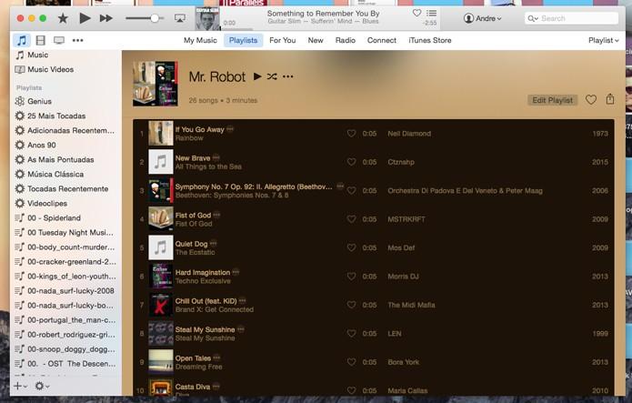 Insira as músicas da playlist (Foto: Reprodução/André Sugai)