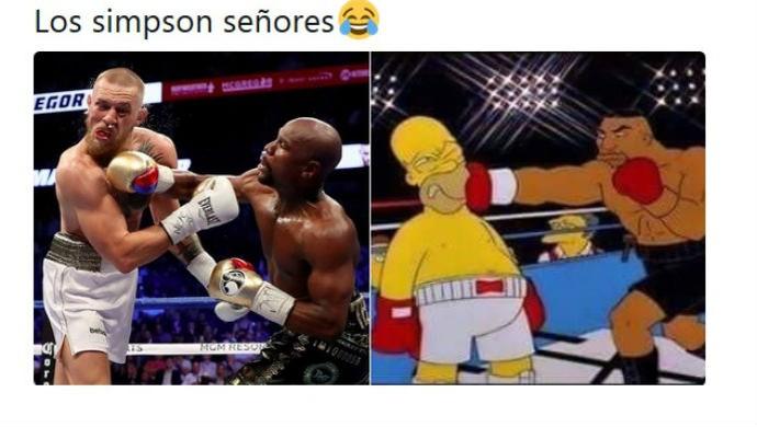 Meme Floyd Mayweather Jr. vs Conor McGregor boxe (Foto: Reprodução Twitter)