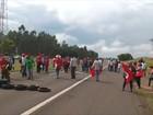 Manifestantes fecham a Marechal Rondon por 1h perto de Mirandópolis