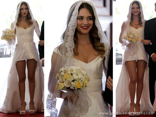 Noiva no melhor estilo Fatinha! Curtiu? (Foto: Malhação/ TV Globo)