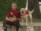 Cão labrador é treinado para missão especial: salvar vidas em praias de SC