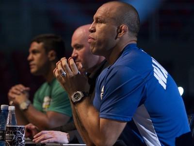 Dana White, Vitor Belfort e Wanderlei Silva na seleção do TUF (Foto: TUF Brasil )