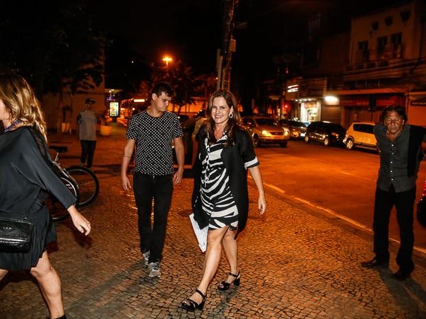 Renata Ceribelli em festa na Zona Sul do Rio (Foto: Marcello Sá Barretto/ Ag. News)