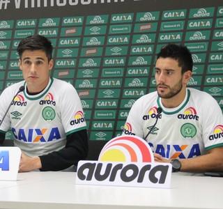 Filipe Machado e Alan Ruschel Chapecoense (Foto: Cleberson Silva/Chapecoense)