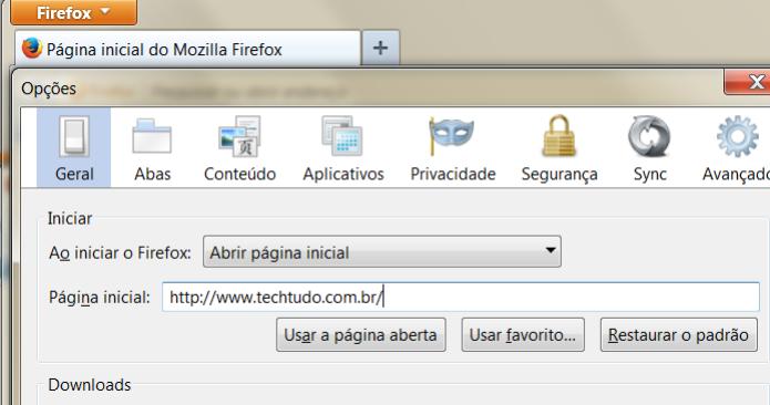 Remova o endereço do awesomehp de sua página principal e insira outro de sua preferência  (Foto: Reprodução/Henrique Duarte)