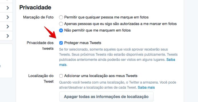 Protegendo o seu perfil no microblog  (Foto: Reprodução/Helito Bijora)