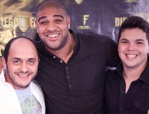 Thiago Rivera, Adriano e Diego Faria boate (Foto: Divulgação)
