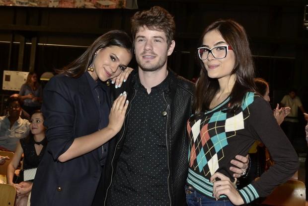 Bruna Marquezine, Maurício Destri e Maria Casadevall na coletiva de imprensa da novela I Love Paraisópolis (Foto: Roberto Teixeira / EGO)