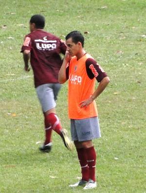 jogadores no treino do Atlético-MG (Foto: Gabriel Medeiros)