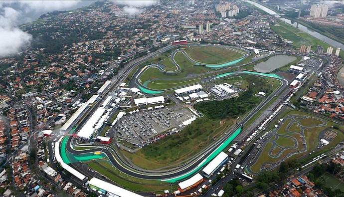 Imagem aérea de Interlagos (Foto: Reprodução)