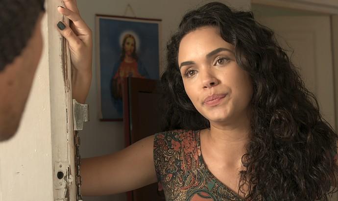 Léo vai até a casa de Stefany pedir que ela conte a verdade a Diana (Foto: TV Globo)