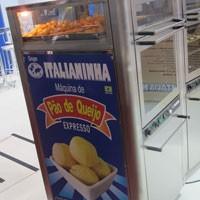 Máquina de pão de queijo (Foto: Gabriela Gasparin/G1)