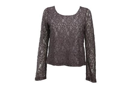 Blusa renda manga comprida cinza clara da Checklist  (R$ 139,80) Camilla Maia