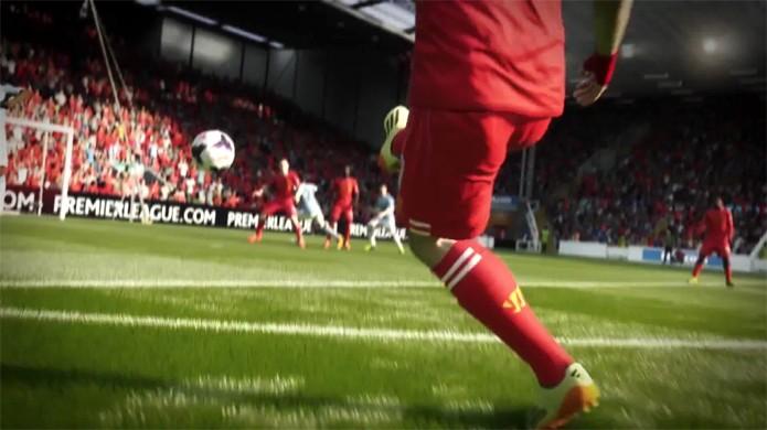 Atacante uruguaino Suárez do Liverpool aparece no teaser de Fifa 15 (Foto: Reprodução: YouTube)