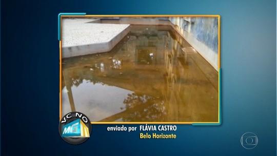 Moradora denuncia falta de limpeza na Praça da Iemanjá, na Pampulha
