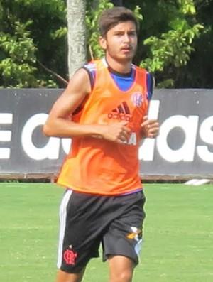 Mattheus treino Flamengo (Foto: Thales Soares)