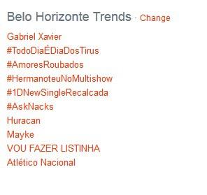 Gabriel Xavier nos Trending Topics no Twitter (Foto: Reprodução / Cruzeiro)