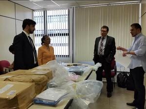 Material foi apreendido durante operação em Iranduba  (Foto: Divulgação/MP-AM)
