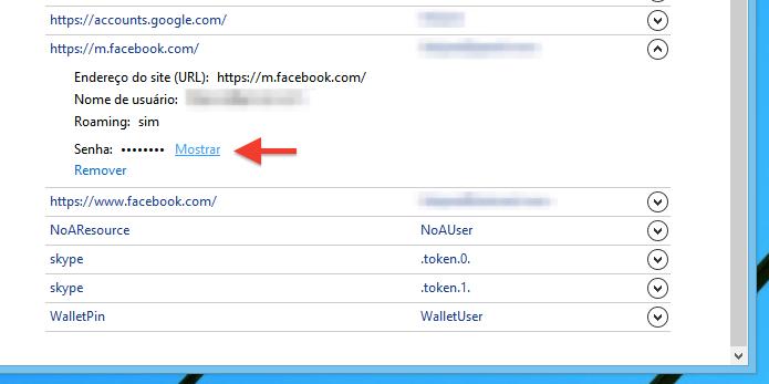 Descobrindo senha salva pelo Internet Explorer (Foto: Reprodução/Helito Bijora)