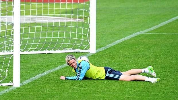 Fernando Torres no treino da seleção da Espanha (Foto: Getty Images)