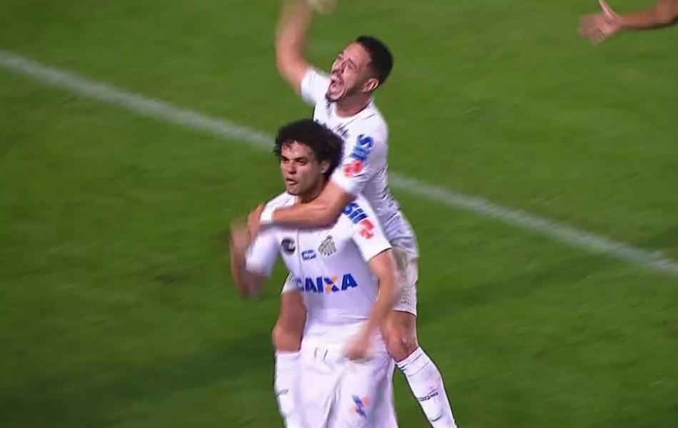 Victor Ferraz gol Santos x Botafogo frame