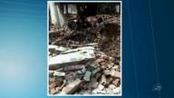 Muro de escola recém-inaugurado desaba e fere duas pessoas