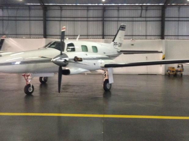 Aeronave é avaliada em R$ 2 milhões e foi comprado para lavar dinheiro (Foto: PF/Divulgação)