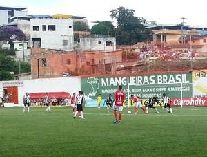 atacante Tardelli Guarani-MG 2014 jogo Atlético-MG Campeonato Mineiro Farião Divinópolis (Foto: Marina Alves)