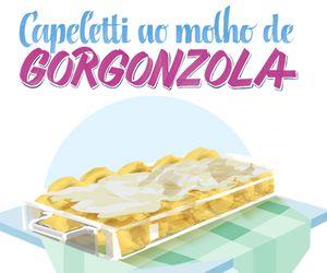 Capeletti ao molho de gorgonzola: receita da chef Bianca Berenguer