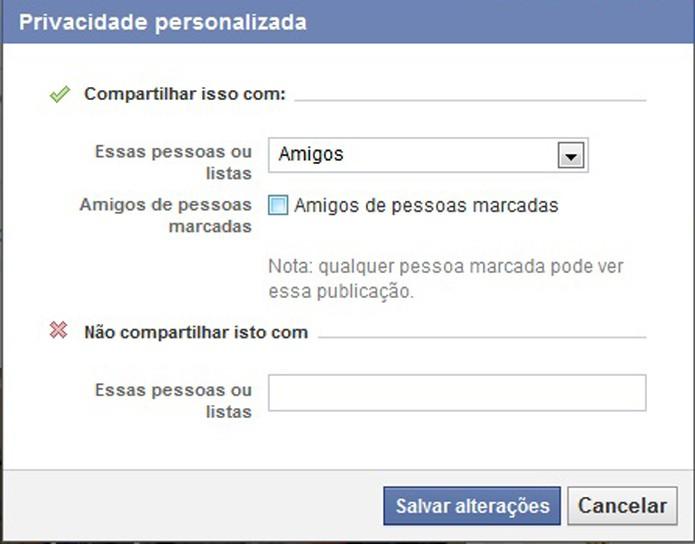 Não permita que amigos de amigos vejam suas publicações do Facebook (Foto: Reprodução/Barbara Mannara)