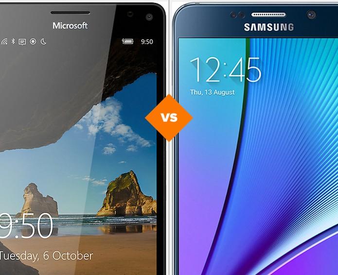 Lumia 950 XL ou Galaxy Note 5? Veja qual gigante merece o seu investimento (Foto: Arte/TechTudo)