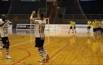 Corinthians e Yoka iniciam duelo por vaga na final da Liga Paulista de Futsal